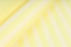 """Бумага цветной Крафт (Б) """"Полоска большая"""" Белый на желтом 60гр/кв.м (60см*10м)"""