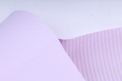 """Бумага цветной Крафт (Б) """"Полоска малая"""" Бронза на сиреневом 60гр/кв.м (60см*10м)"""