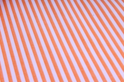 """Бумага цветной Крафт (Б) """"Полоска малая"""" Оранжевая на сиреневом 60гр/кв.м (60см*10м)"""