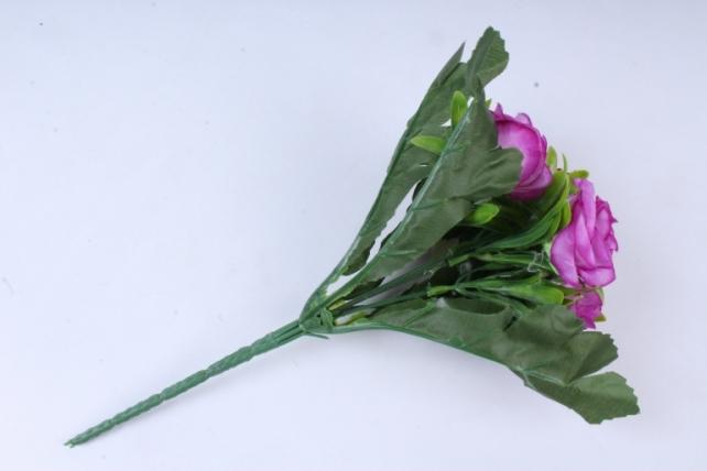 искусственное растение - розы пурпурные