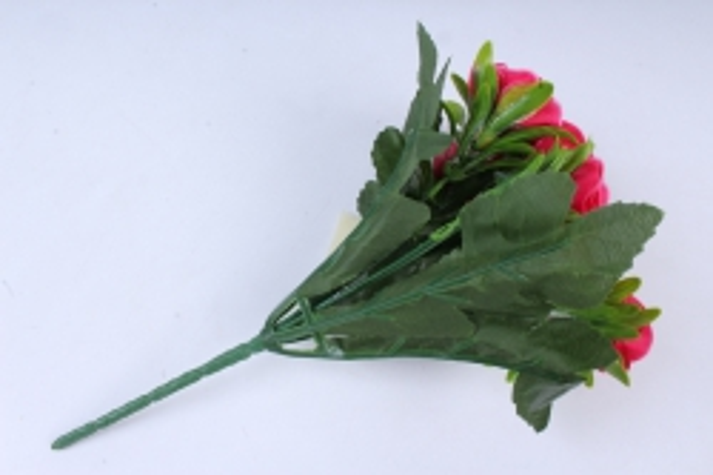 искусственное растение - розы малиновые
