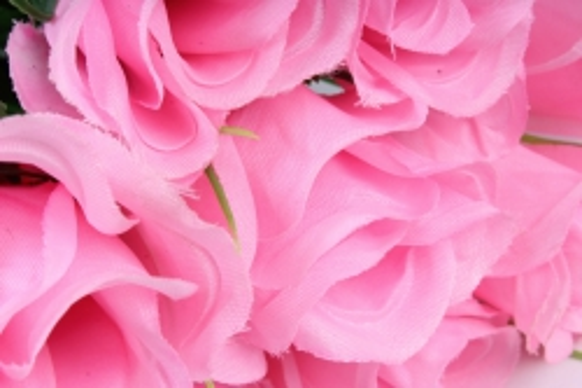 искусственное растение - розы одиночные (10 шт в уп) розовые