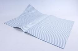 """Набор бумаги плотной, 10 листов 50*70см """"Горох/полоса"""" серый  1290"""