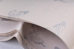 """Набор бумаги плотной, 10 листов 50*70см """"Бабочки"""" крем  1283"""