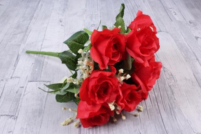 искусственное растение - роза букет красная