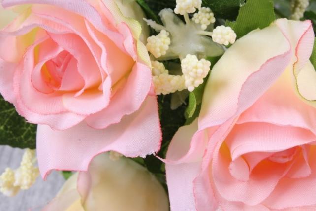 искусственное растение - роза букет нежно-розовая