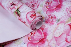 Бумага  ГЛЯНЕЦ  Розы Ретро  0,7*1м в лист. (10 лист.) 78г/м2 UNRR  М