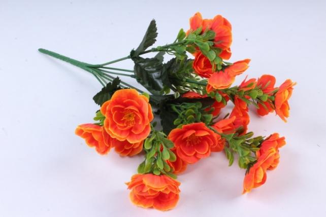Искусственное растение - Маки махровые оранжевые
