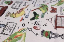 Лен с рисунком 48см*5ярд клетка для птиц