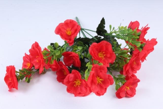 Искусственное растение - Маки махровые красные