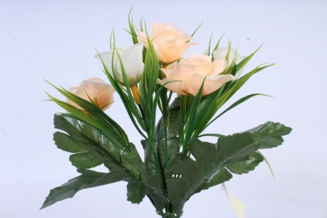 Искусственное растение - Розы с осокой бело-персиковые