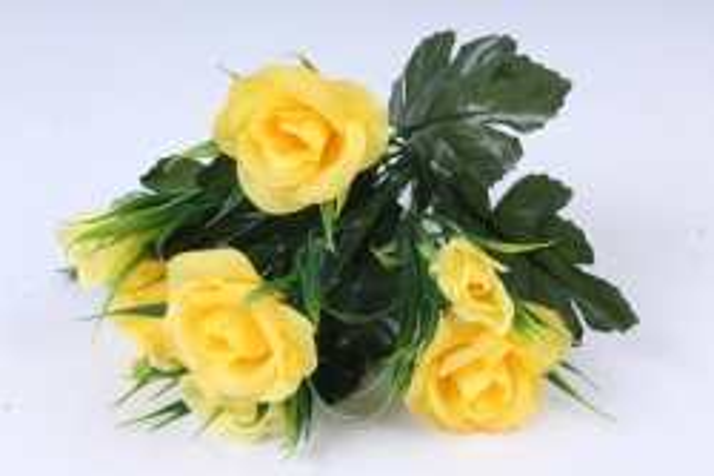 Искусственное растение - Розы с осокой жёлтые