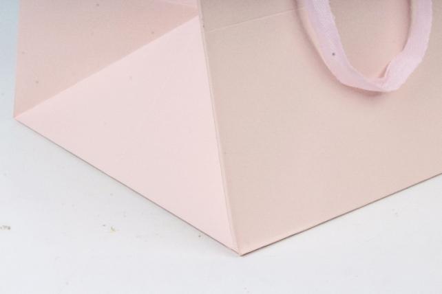Сумка  Люкс однотонная  КУБИК розовая L061 Цена за 1шт (уп 12шт)