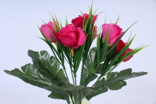 Искусственное растение - Розы с осокой фуксия