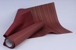 Бумага  рифленая в рулоне Полоски бордовые с золотом  50см*10м 131002 50/10 214200