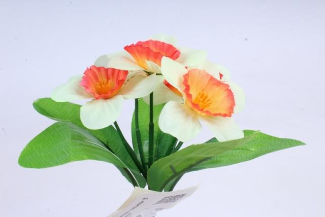 Искусственное растение - Нарциссы  шампань-красные