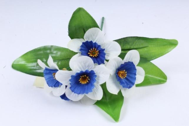 Искусственное растение - Нарциссы сине-белые