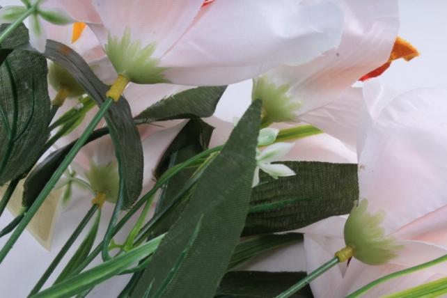 Искусственное растение - Орхидея букет пёстрая