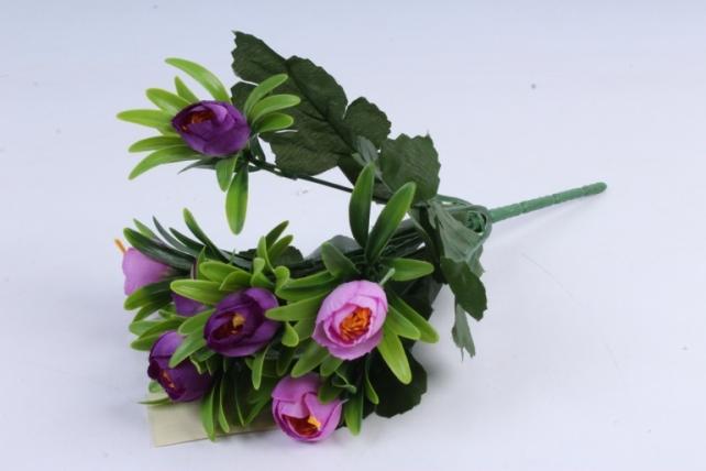 Искусственное растение - Ранункулюс пастель фиолетовый