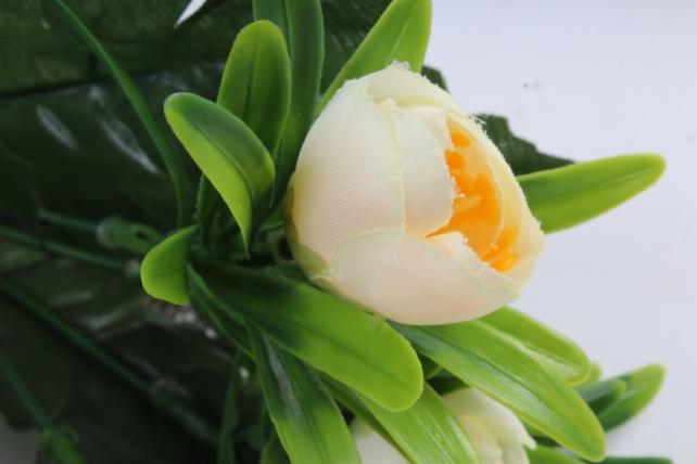 Искусственное растение - Ранункулюс пастель шампань