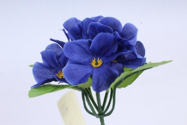 Искусственное растение - Фиалки мини синие