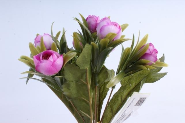 Искусственное растение - Ранункулюс пастель сиреневый