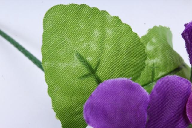 Искусственное растение - Фиалки мини фиолетовые