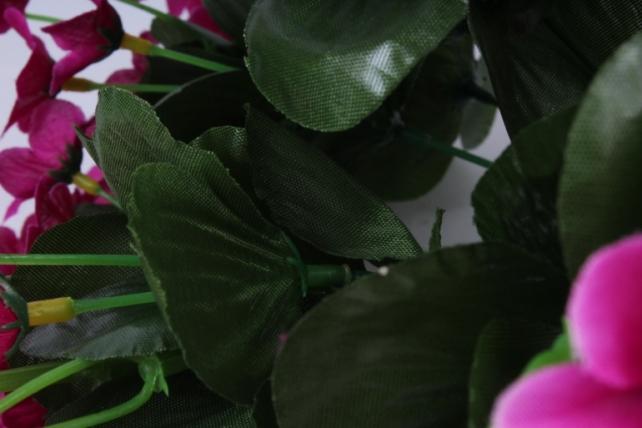 Искусственное растение - Букет фиалок круглый фуксия h=26cm