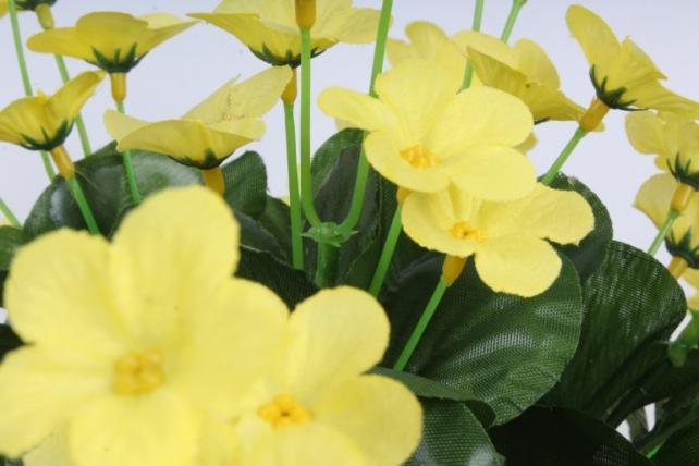 Искусственное растение - Букет фиалок круглый жёлтый