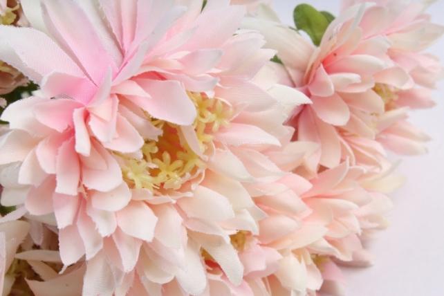 Искусственное растение - Цветок Хризантемы (6 шт в уп) 55 см Светло-розовый SUN469  6917