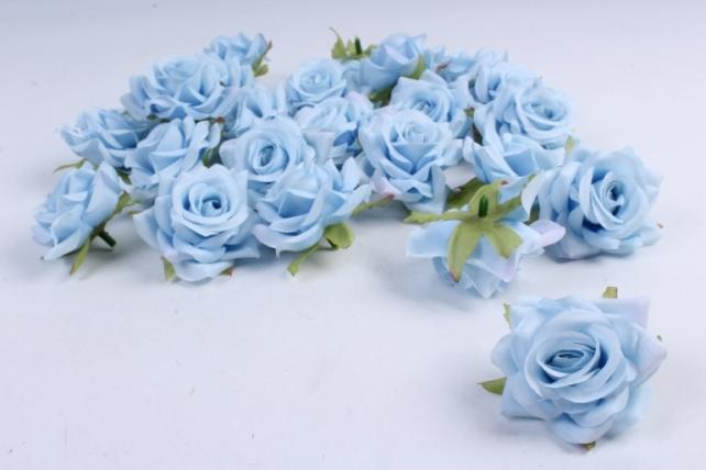 Головка Розы Голубые ( в уп. 24 шт)  d=5см   ART117  7143