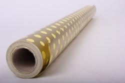 """Бумага на золотой основе """"Горох"""" (желтый) 53см*10м GOL-1050"""