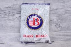 бисер декоративный  белый матовый  (450гр)