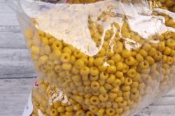 бисер декоративный горчичный матовый  (450гр)