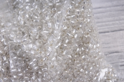 бисер декоративный  прозрачный №21  (450гр)