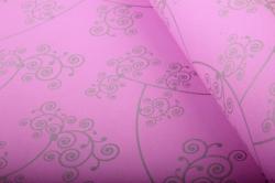 """Бумага на золотой основе """"Узор"""" (розовый) 53см*10м GOL-1004"""