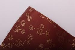 """Бумага на золотой основе """"Морской конёк"""" (винный) 53см*10м GOL-1033"""