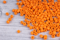 бисер декоративный оранжевый матовый №50  (450гр)