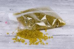 бисер декоративный  оливковый №10  (450гр)