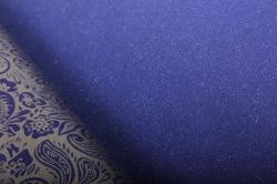 """Бумага на золотой основе """"Огурцы"""" (синий) 53см*10м GOL-1010"""