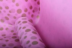 """Бумага на золотой основе """"Конфетти"""" (розовый) 53см*10м GOL-1071"""