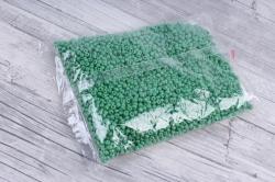 бисер декоративный  зеленый матовый №47  (450гр)