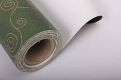 """Бумага на золотой основе """"Морской конёк"""" (зеленый) 53см*10м GOL-1032"""