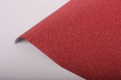 Упаковочная подарочная пленка 50cmx5m красный на метал.основе