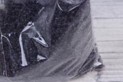 бисер декоративный   черничный №11а (450гр)