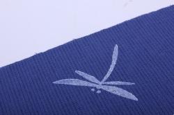 Лён цвет Синий с ручной набойкой 15*15 см МИКС