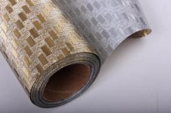 Упаковочная подарочная пленка 50cmx5m золотое плетение