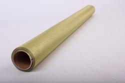 Упаковочная подарочная пленка 50cmx5m золотистый рифленый