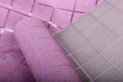 Упаковочная подарочная пленка 50cmx5m розовая клетка