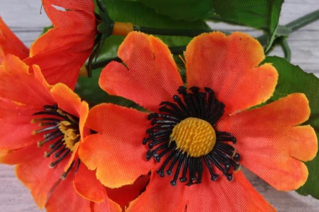 искусственное растение - анемоны  оранжевые